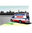 al 0219 ambulance vector image vector image