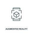 augmented reality icon monochrome style design vector image vector image