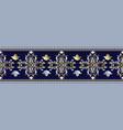 baroque seamless border pattern greek ornaments vector image vector image