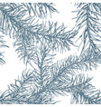 blue fir branches seamless pattern vector image vector image