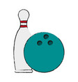 bowling pins and ball icon image vector image vector image