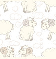 cartoon sheep in the sky vector image vector image