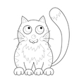 Cartoon smiling gentle kitty with stripes sit vector image vector image