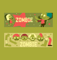 cartoon zombie pattern halloween scary vector image vector image