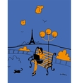 Charming area of the Paris vector image vector image