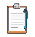 clipboard document with pen vector image