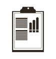 clipboard with graph icon vector image