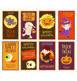 collection of halloween cards vector image