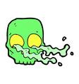 comic cartoon gross skull vector image vector image