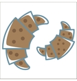 croissant line icon vector image