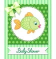 cute baby fish card draw vector image