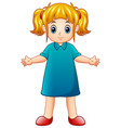cute little girl cartoon vector image