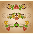 drawing flowers vignette craft vector image vector image