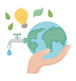 eco world and save planet design vector image