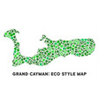 ecology green collage grand cayman island vector image vector image