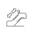 escalator line icon concept escalator vector image vector image