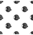 Eyeball icon in black style isolated on white vector image vector image
