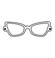 fashion eyeglasses isolated icon vector image vector image