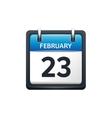 February 23 Calendar icon vector image vector image