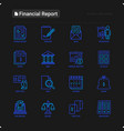 financial report thin line icons set vector image vector image