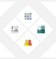 flat icon games set of people gomoku jigsaw and vector image vector image