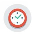 flat icon watch vector image vector image