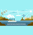 geoengineering concept vector image