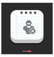 hacker icon gray icon on notepad style template vector image
