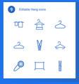 hang icons vector image vector image