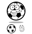 Happy cartoon soccer ball or football character