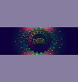 happy diwali festival banner with colorful vector image vector image