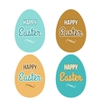 Happy Easter set eggs calligraphic lettering vector image