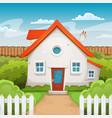 house inside garden vector image vector image