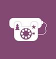icon landline phone vector image vector image