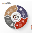 infographic geometric graph business concept vector image vector image