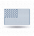 isolated usa flag design vector image vector image