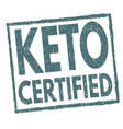 keto certified sign or stamp vector image vector image
