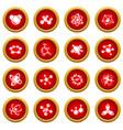 molecule icons set simple style vector image vector image