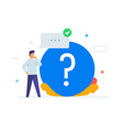 person asks questions icon vector image vector image