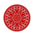 Red Flower mandala over white vector image vector image