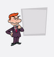 red hair businessman worried and doubtful vector image vector image