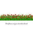 rose flowers and grass decoration element vector image vector image