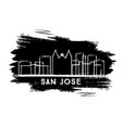san jose costa rica city skyline silhouette hand vector image vector image