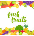 seamless fruits horizontal border vector image vector image