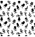 Seamless pattern of Office chairs silhouettes vector image vector image