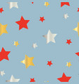 seamless pattern with orange and yellow stars vector image vector image