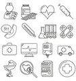 set of icons in line style medical vector image vector image