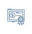 shares line icon concept shares flat vector image vector image