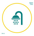 shower icon symbol graphic elements for your vector image