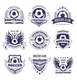 soccer club or football league ball star vector image vector image